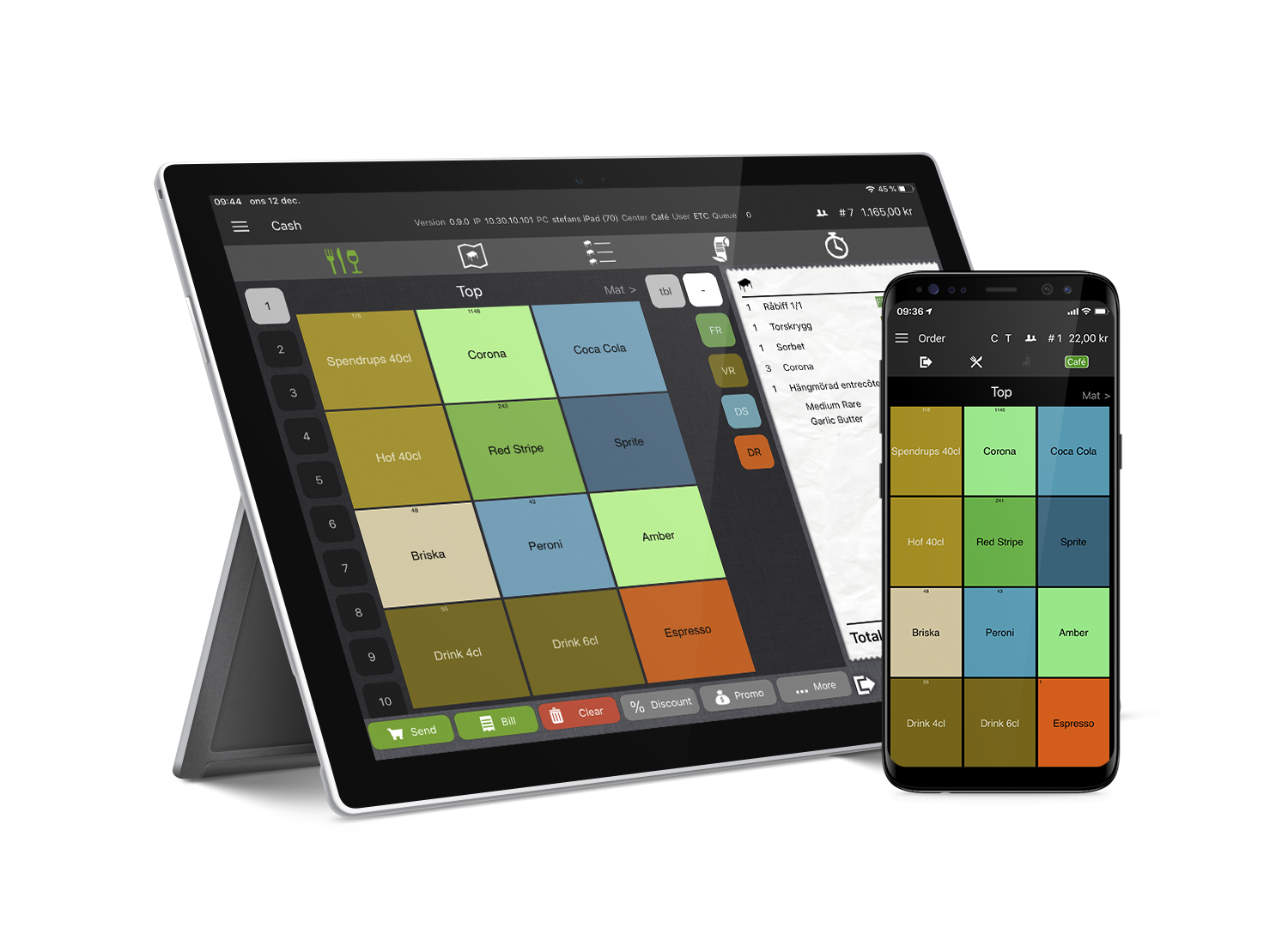 Trivec-POS-Surface-Android