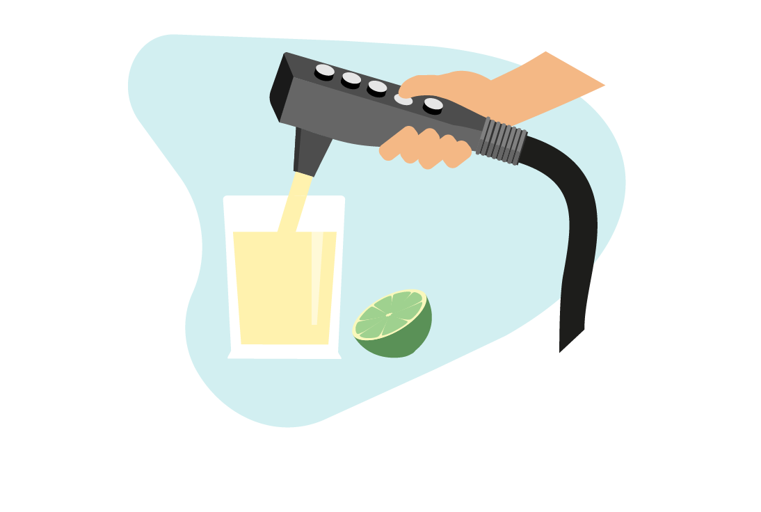 alcool pistolet