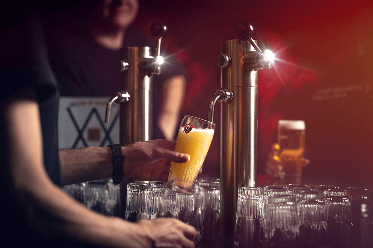 Colonne à bière automatisée