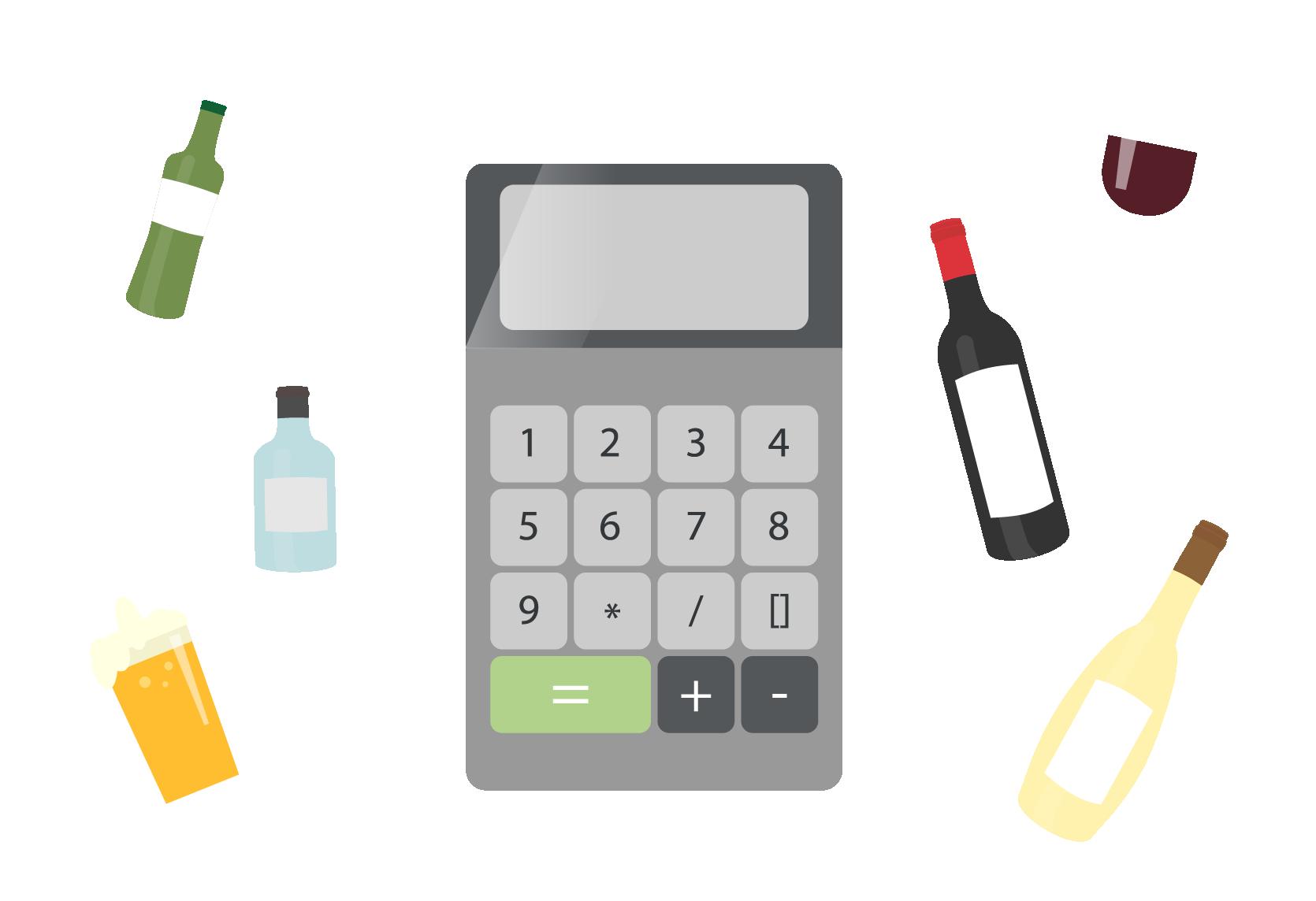 calculator for beverage system